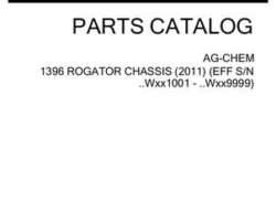 Ag-Chem 542755D1C Parts Book - 1396 RoGator (chassis, eff sn Wxxx1001, 2011)