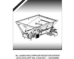 Ag-Chem 546114D1E Parts Book - L4258G4 MultApplier (system, eff sn Cxxx1001, 2012)