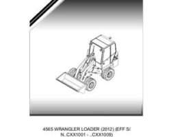 Willmar 554804D1B Parts Book - 4565 Wrangler Loader (eff sn Cxx1001, 2012)