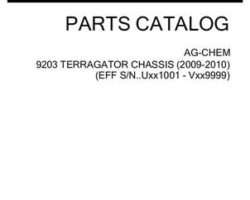 Ag-Chem 559058D1B Parts Book - 9203 TerraGator (chassis, eff sn Uxxx1001, 2009)
