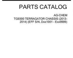 Ag-Chem 559062D1B Parts Book - TG9300 TerraGator (chassis, eff sn Dxxx1001, 2013)
