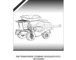 Gleaner 652056NAA Parts Book - S96 Combine (eff 2016, GHTVx101)