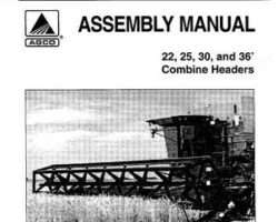 AGCO 700717588 Operator Manual - Draper Header (22, 25, 30, 36 ft., 1998)