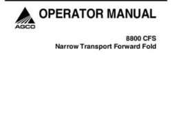 AGCO 700729966A Operator Manual - 8831 Seeder (eff sn 'HS')