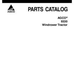 AGCO 700730278B Parts Book - 9330 Windrower Tractor