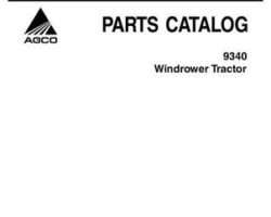 AGCO 700730430A Parts Book - 9340 Windrower Tractor