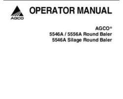 AGCO 700730533D Operator Manual - 5546A / 5556A Round Baler (autocycle / silage)