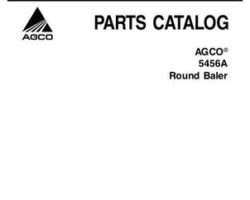 AGCO 700730551A Parts Book - 5456A Round Baler (autocycle)