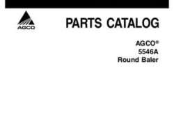 AGCO 700730557B Parts Book - 5546A (autocycle / silage) Round Baler
