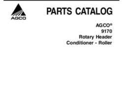 AGCO 700730560B Parts Book - 9170 Rotary Header Conditioner (roller)
