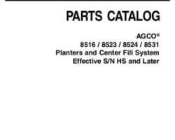 AGCO 700730638C Parts Book - 8516 / 8523 / 8524 / 8531 Planter (CFS, eff sn HS)