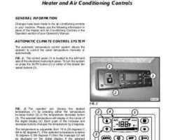 Gleaner 700730988A Operator Manual - Combine Heating / AC Supplement (auto climate control, 2007)