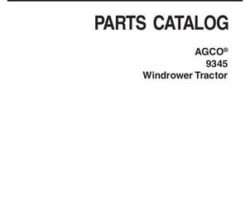 AGCO 700731035D Parts Book - 9345 Windrower Tractor