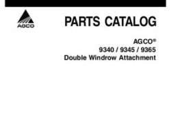 AGCO 700732152A Parts Book - 9340 / 9345 / 9365 Double Windrower Attachment