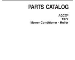 AGCO 700734799A Parts Book - 1372 Rotary Disc Mower (roll conditioner)