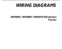 AGCO 700739119A Operator Manual - WR9840 / WR9860 / WR9870 Windrower Tractor (wiring diagrams)