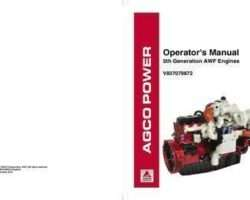 Ag-Chem 700739884 Operator Manual - AGCO Power Sisu Engine (5th generation, Tier 4, use V837079872)