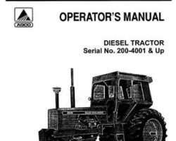 Allis Chalmers 70257211 Operator Manual - 200 Tractor (eff sn 4001)