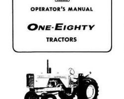 Allis Chalmers 70257951 Operator Manual - 180 Tractor (prior to serial 12800)