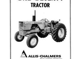 Allis Chalmers 70257952 Operator Manual - 170 Tractor (prior sn 07501)