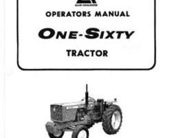 Allis Chalmers 70257954 Operator Manual - 160 Tractor (prior sn 144046)