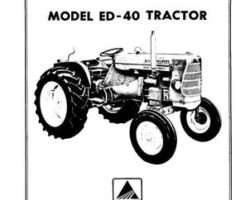Allis Chalmers 70257955 Operator Manual - ED 40 Tractor