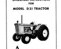 Allis Chalmers 70257957 Operator Manual - D21 Tractor (3400 engine)