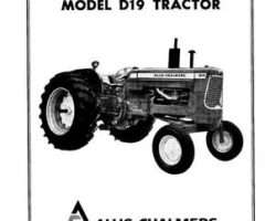 Allis Chalmers 70257958 Operator Manual - D19 Tractor
