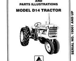 Allis Chalmers 70257968 Operator Manual - D14 Tractor (eff sn19001)