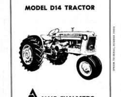 Allis Chalmers 70257969 Operator Manual - D14 Tractor (prior sn 19001)