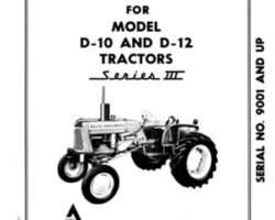 Allis Chalmers 70257970 Operator Manual - D10 / D12 Tractor (eff sn 9001)