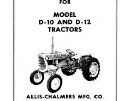 Allis Chalmers 70257972 Operator Manual - D10 (prior sn 3501) / D12 (prior sn 3001) Tractor