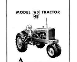 Allis Chalmers 70257975 Operator Manual - WD45 Tractor (gas)
