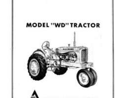 Allis Chalmers 70257977 Operator Manual - WD Tractor