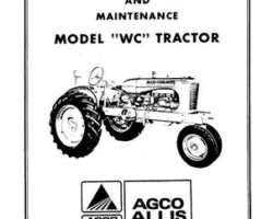Allis Chalmers 70257978 Operator Manual - WC Tractor
