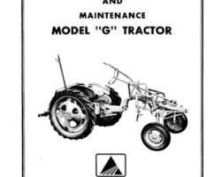 Allis Chalmers 70257983 Operator Manual - G Tractor