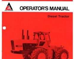 Allis Chalmers 70261940 Operator Manual - 8550 Tractor