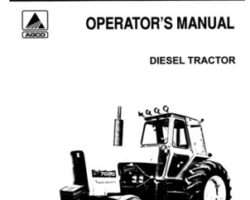 Allis Chalmers 70262680 Operator Manual - 7020 Tractor (prior sn 4581)
