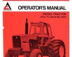 Allis Chalmers 70269343 Operator Manual - 7080 Tractor (prior sn 3001)