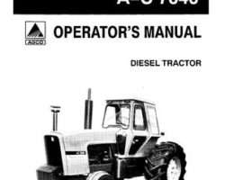Allis Chalmers 70269527 Operator Manual - 7040 Tractor