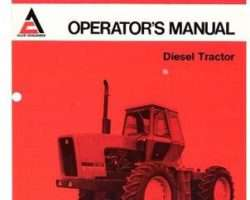 Allis Chalmers 70270120 Operator Manual - 7580 Tractor (prior sn 2001)