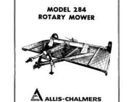 Allis Chalmers 70559719 Operator Manual - 284 Rotary Mower (* also 70828353)
