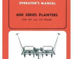 Allis Chalmers 70573268 Operator Manual - 600 Series Planter (144 & 176 inch frame, 1971-74)