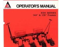 Allis Chalmers 70587137 Operator Manual - 600 Series Planter (144 & 176 inch frame, 1975-76)
