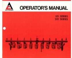 Allis Chalmers 70588821 Operator Manual - 101 / 201 Series Cultivator (rotary, 4x4, 7x7)