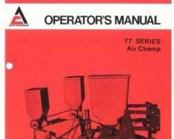 Allis Chalmers 70592946 Operator Manual - 77 Series Planter Unit (Air Champ)