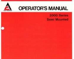 Allis Chalmers 70593570 Operator Manual - 2000 Series Semi-Mounted Plow (16 - 18 ft bottom)