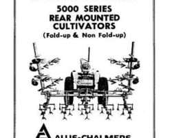 Allis Chalmers 70828239 Operator Manual - 5000 Series Cultivator (Rear Mounted)