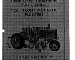 Allis Chalmers 70828390 Operator Manual - CA Planter (front mounted)