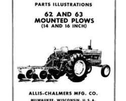 Allis Chalmers 70828418 Operator Manual - 62 / 63 Mounted Plow (14 - 16 ft)